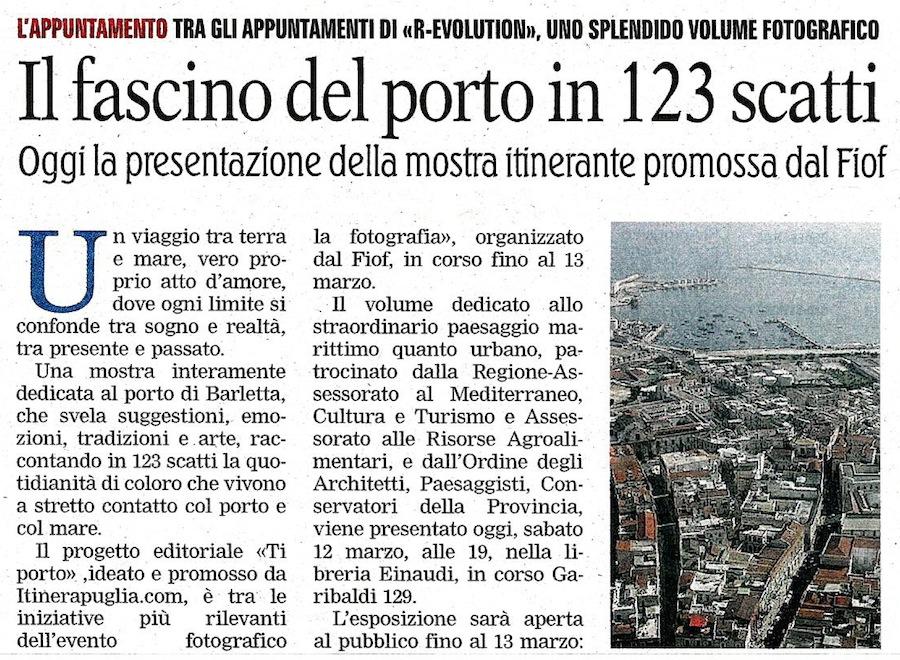 La Gazzetta del Mezzogiorno 12-03-2011